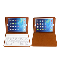 Bluetooth Keyboard gaming laptop keyboard ABS slim bluetooth keyboard Detachable Leather Case for iPad Air 2 Case