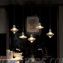 Clear glass pendant lamp 5 style suspension lighting kit
