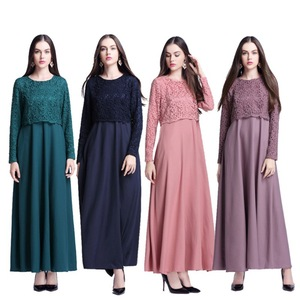 2018 new wholesale beautiful latest design long sleeve islamic dress foe abaya women