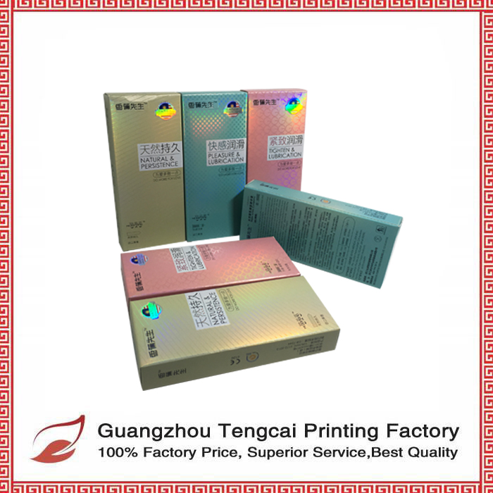 Cheap price packaging condom packaging box