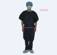 high quality light weight disposable PP short sleeve patient gown for hospital