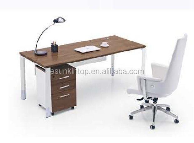 Heat sale modern wooden office furniture brown melamine + zebra upholstery, Pro office furniture factory (JO4065-1)