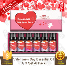 Chinese Factory Supply Valentine's Day Collection Pure Essential Oil Gift Set 10ml/6pcs-Rose,Rosemary,Geranium,Lavender,Thyme