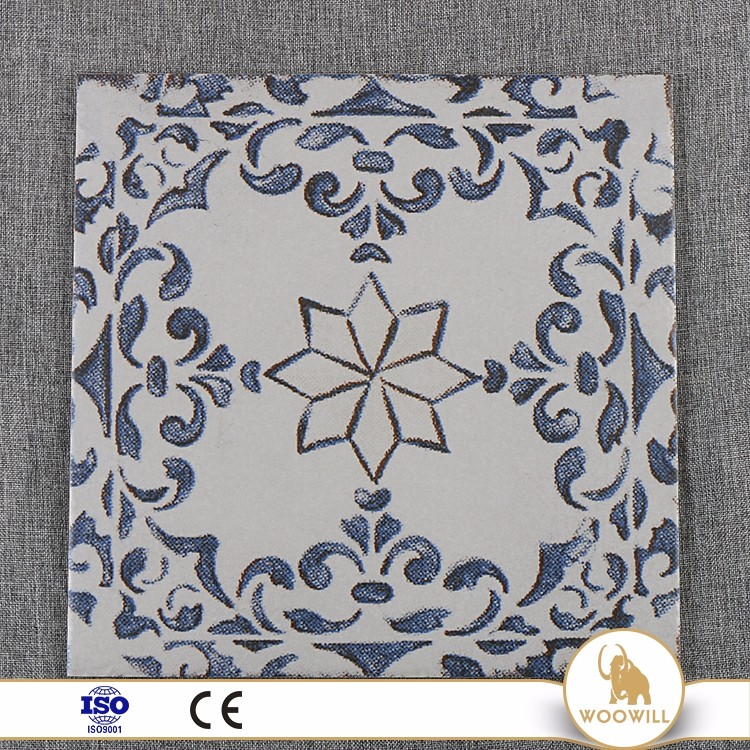 ceramic porcelain 40x40 flower floor tile standard size design in china