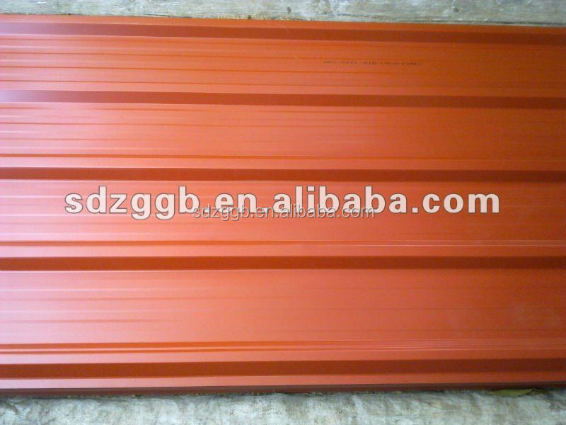 hot-dipped prepainted corrugated steel sheet for roofing sheet
