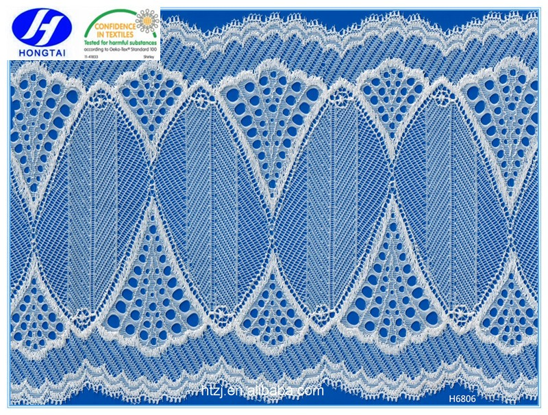 off-white chantilli lace fabric for ladies underwear saree border embroidery designs