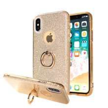 Hot 360 Degree Finger Ring Holder Kickstand Back Phone Cover For iPhone X Case 3 in 1
