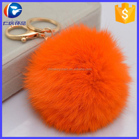 Wholesale newest fur style plush keychain key ring