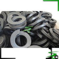 Fe6 spring washers/ double coiled spring washers