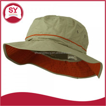 Solid in color UV Fisherman/Bucket Hat with adjustable draw string
