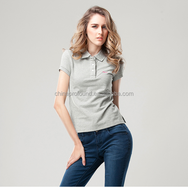 short sleeve blank cotton multi colors plain slim fit custom sport golf shirts dri fit polo pique women design shirt