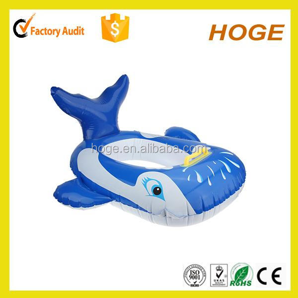 customized inflatable fish swim ring in animal shape for kids