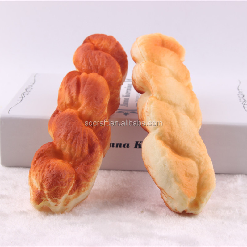 Artificial Chinese twist bread creative bakery decoration kids toyt
