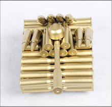 New arrival custom arts craft bullet casings cheap metal tank model wholesale