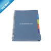 A5 spiral PP cover notebook with colored index tab divider