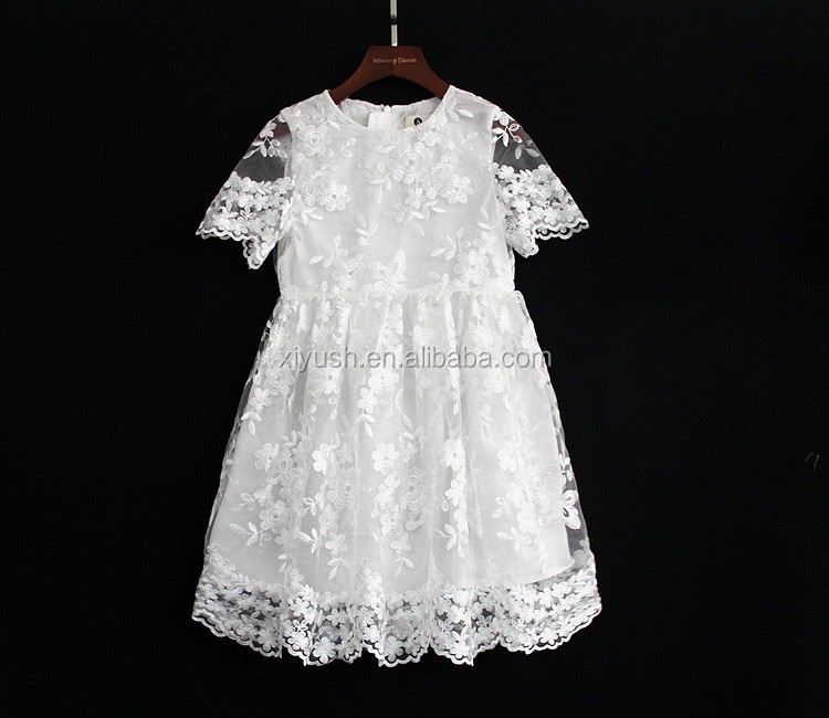 Modern latest children frocks designs kids party wear dresses for girls of 10