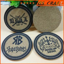 Promotional high quality best selling wooden coaster cork coaster