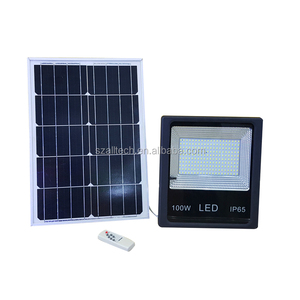 High Quality 100w Solar Powered Panel Led Remote control Flood Lights outdoor floodlight Garden outdoor Street light