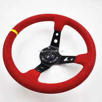 Suede deep dish steering wheel for car TM-SW-010