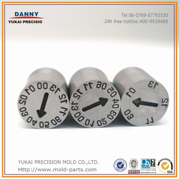 Argentina hot sale HASCO Standard Date code inserts/ date stamps/date marked indicator in Mold
