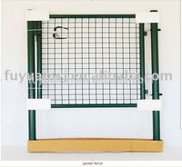Simple new design wrought iron decorated gate for sale(double)