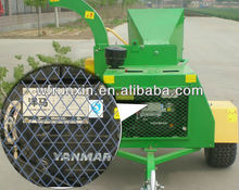Yanmar diesel wood chipper with CE