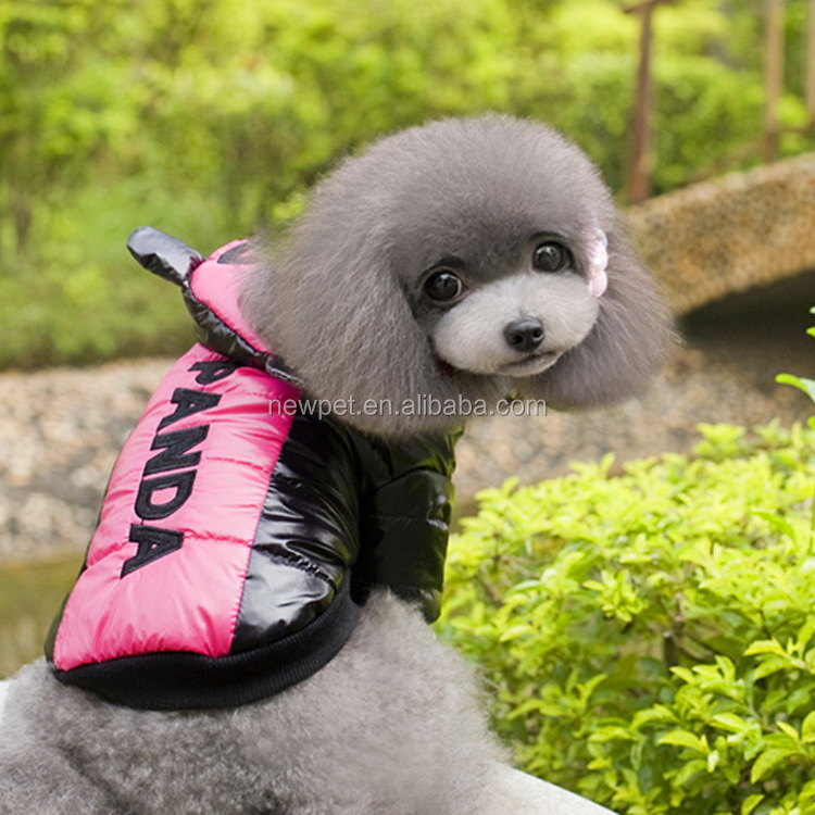 Good quality hot selling panda dog jacket autumn xxs dog clothes