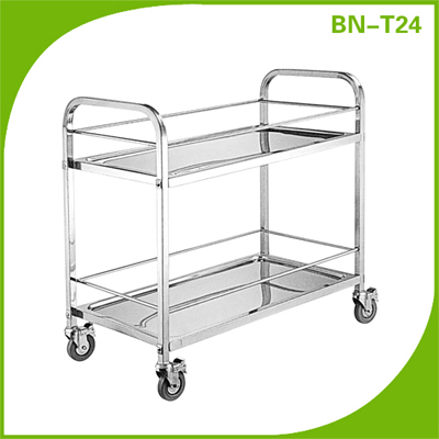 Restaurant Stainless Steel Service Cart 3 Layers For Kitchen Canteen Transport