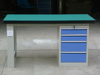 steel electrical work bench with drawers