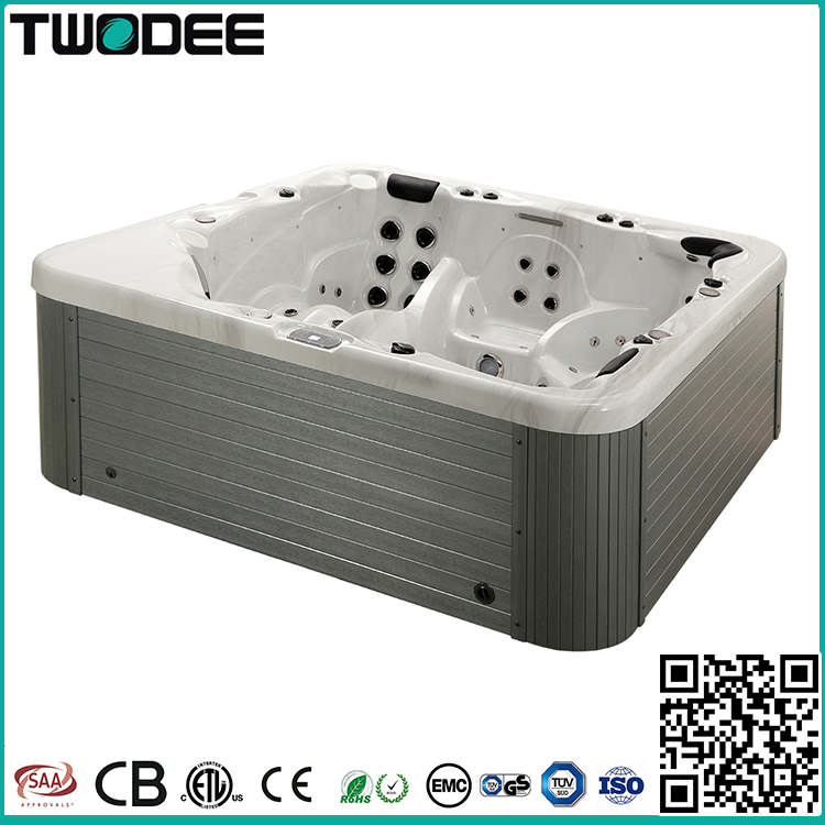 luxury balboa system freestanding rectangle hot tub acrylic outdoor 5 persons whirlpool spa