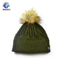 BT-HAT4-005-CSR 4.1-5PM Beanie Smart Bluetooth Music Cap with Headphone