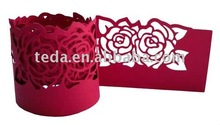 2011 laser cut napkin ring for wedding/dating/party/birthday