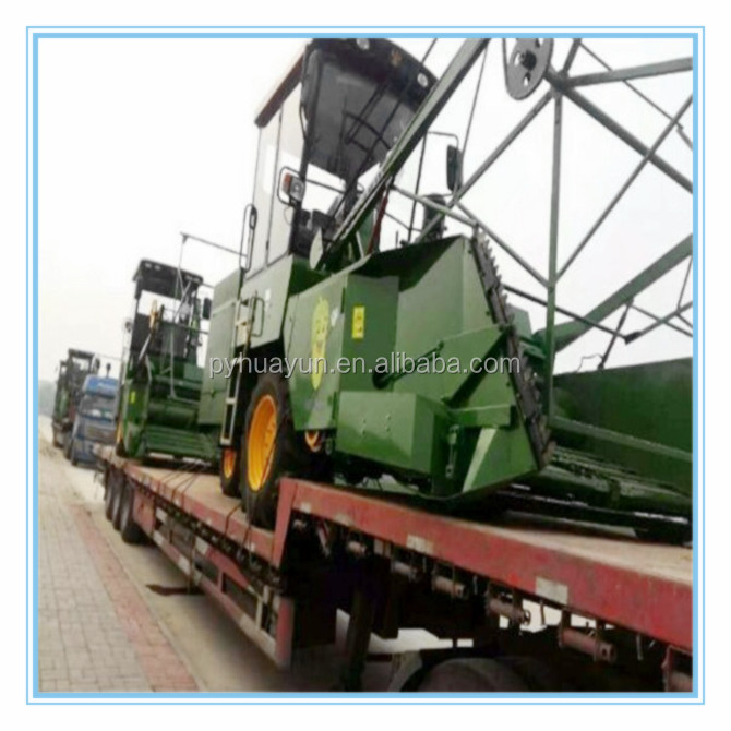Large Self Propelled Combined Corn Harvester Machine