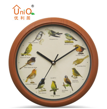 Decorative plastic wall clock with bird sounds