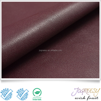Woven backing artifical leather upholstery fabric