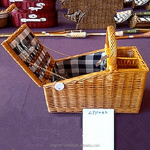 bestselling cheap chinese wholesale picnic basket with wine bottle holder