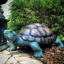 outdoor large tortoise water fountain sculpture for garden decoration
