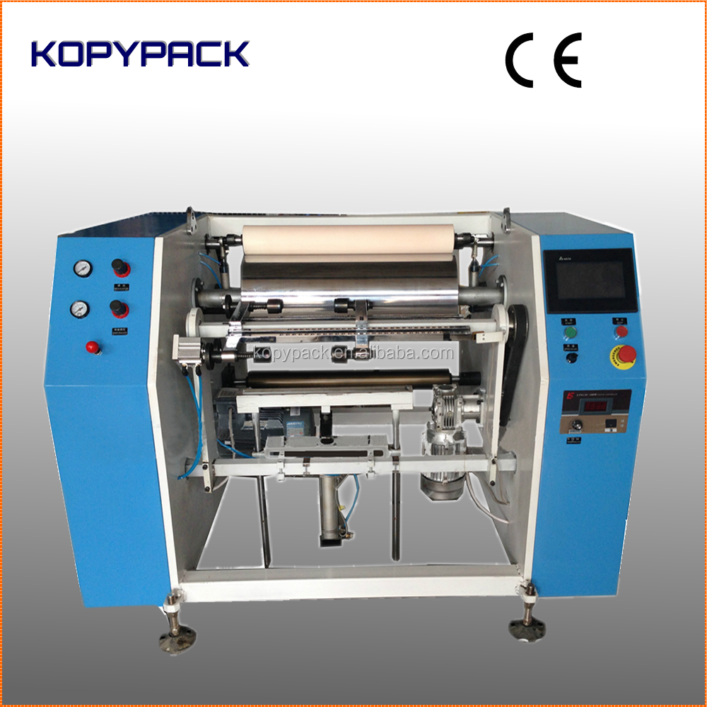 KP-FQ-L450B Electric manual aluminum foil food wrapping roll rewinding machine