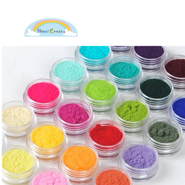 Eco-friendly Nylon Velvet Flock Powder For Arts and Handmaking DIY Material