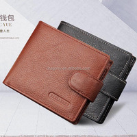 short classic style ancients zipper head layer cowhide real leather men's wallet