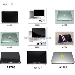 LED LCD Screen Assembly Display Complete Display For Macbook a1398 A1369 A1466 A1370 A1465 A1534 A1502 A1425 A1706 A1707 A1708