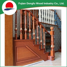 2017 New design outdoor type of wooden stair rail