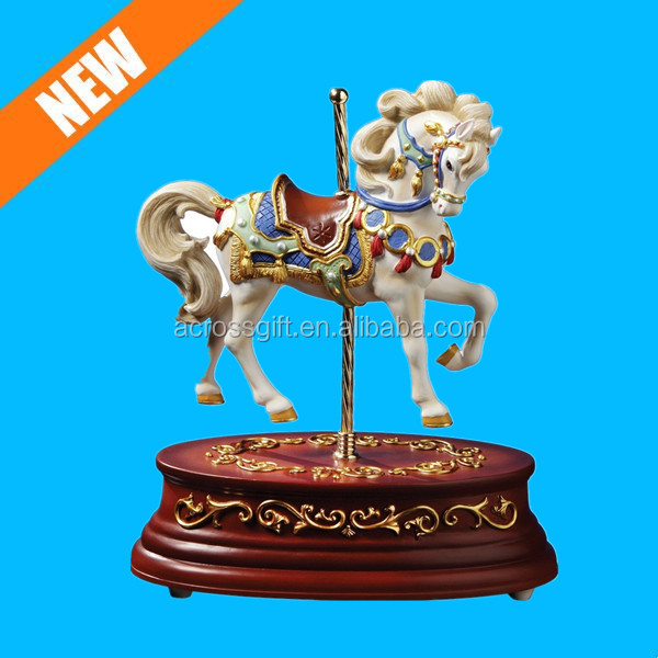 Heritage Single Horse Animated Decorative Music Box Base