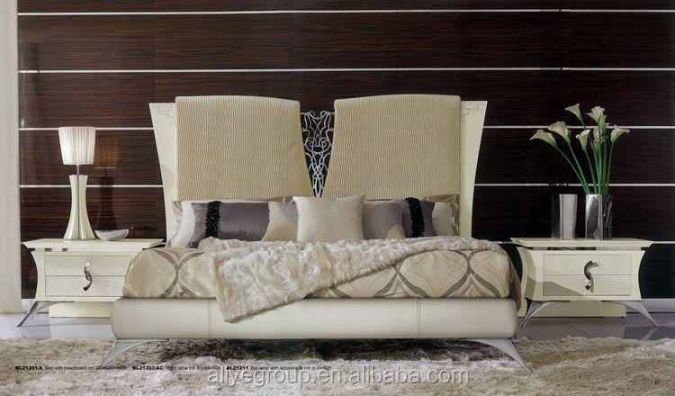 BL21201A- Girls bed royal luxury bedroom furniture carved white wooden beds high quality bedroom sets