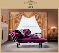 European anquite style fabric chaise lounge F07