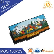 Promotional customized cheap magnetic fridge magnet stationary for company
