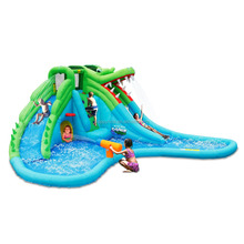 Happy Hop Water Slide-9517 Giant Children Inflatabtable Super Crocodile Water Slide Slip n Slide