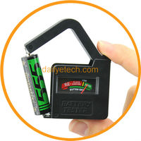 New AA/AAA/C/D/18650/9V/1.5V Universal Button Cell Battery Volt Tester Black from dailyetech