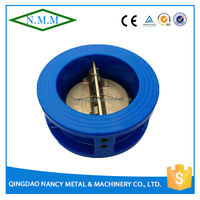 Cast Iron Double Disc Wafer Type Butterfly Check Valve