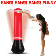 BANG! BANG!Red PVC inflatable Boxing Bag and Glove Sport Toy for Adult and Child